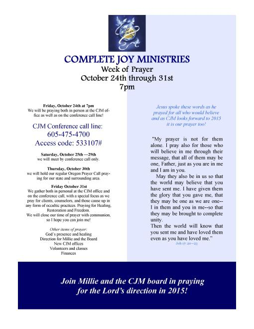 CJM week of prayer