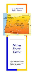 50 day Oregon prayer Guide 2016