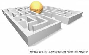 Maze with ball on top